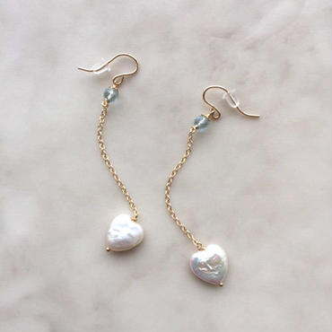 Heart pearl pierced