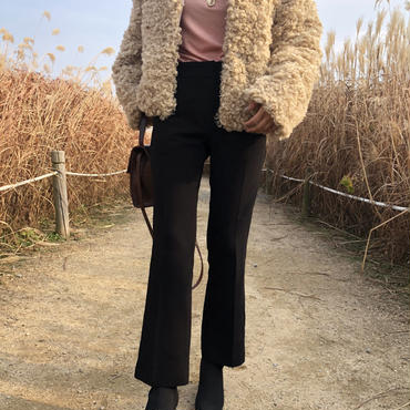 slim slacks / black