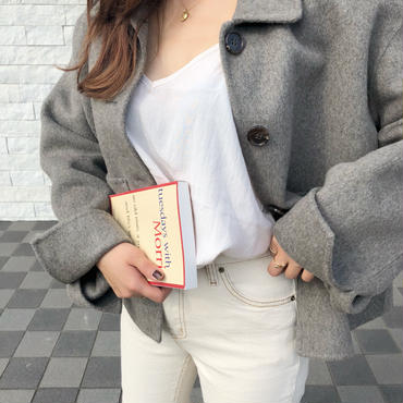 handmade short coat / gray