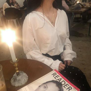roman blouse / white