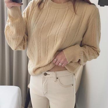 《再販》color knit  /  yellow