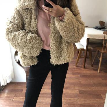 boa coat / brown