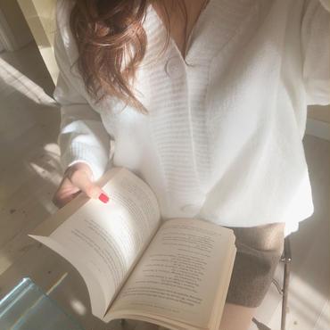 loose cardigan / white