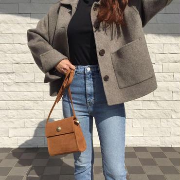 square bag / brown