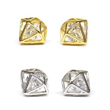 ダイヤモンドモチーフビジューミニピアス