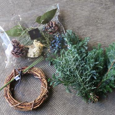 Xmas wreathe kit (fresh&dry)