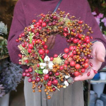 Xmas wreathe red.01  【handmaid , fresh】