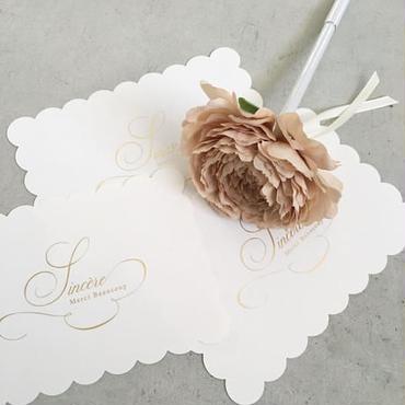 MARBLE & Co. お花のボールペン ラナンキュラス  [beige]