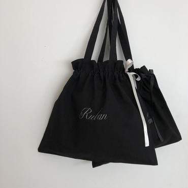 MARBLE & Co. Rubanの巾着バッグ [black]