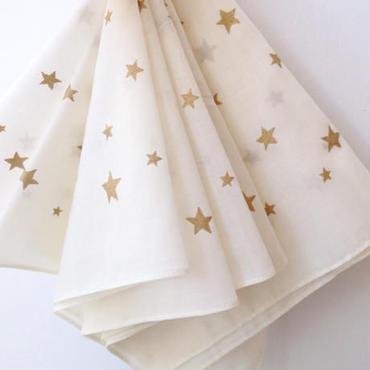 MARBLE & Co. 星のハンカチ [cream]