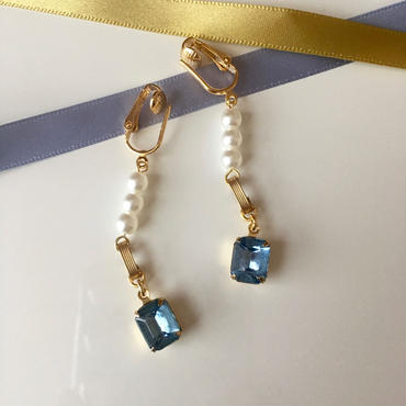 """LYS -fantasia for your dress- """"Marie""""ピアス/イヤリング [blue]"""