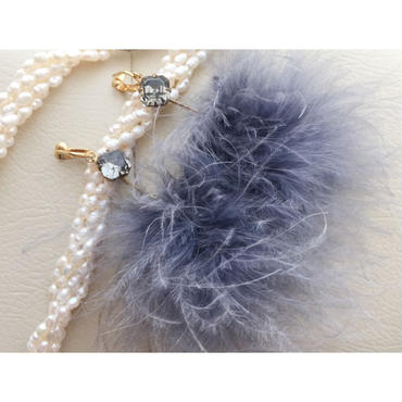 """LYS-fantasia for your dress- """"new fantasia""""フェザーピアス/イヤリング"""