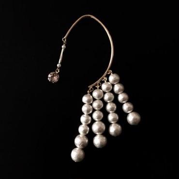 "LYS -fantasia for your dress- ""Lien""イヤーフック [white (スワロ:vintage rose) ]"