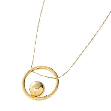 bola circle necklace  (gold)