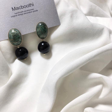 """""""vintage parts accessory"""" green gold marble※3点のみ"""
