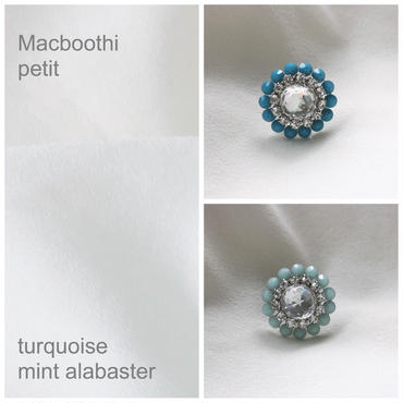Macboothi petit / 7.turquoise 8.mint alabaster