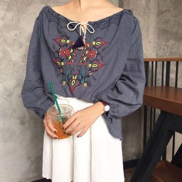 Embroidery Fringe Tunic