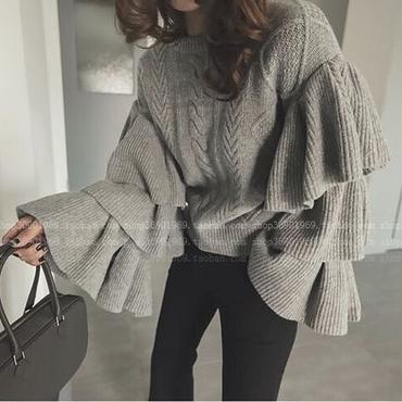 3frill Volume sleeve Knit