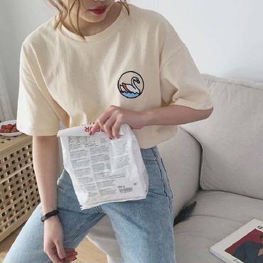 いまだけ送料無料【2018 s/s】SWAN T shirt  みるく🥛