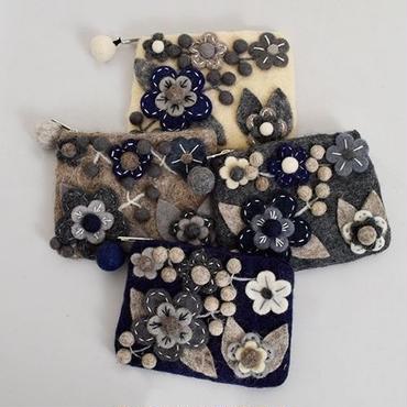 いまだけ送料無料【即納】flower felt pouch