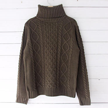 cocoa brown turtle knit