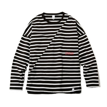 BIAS CUT STRIPE CREW (BLACK BASE)
