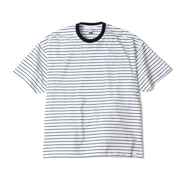 M.S.LAB STRIPE BOX Tee