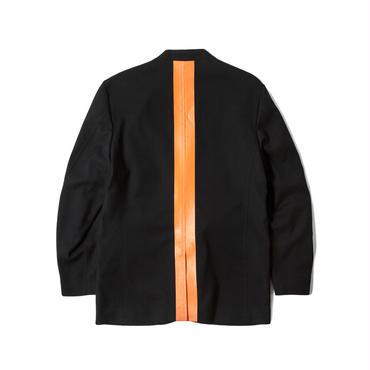 LINED 2B JKT (BLACK × ORANGE)