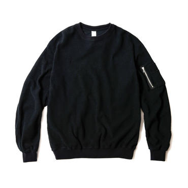 INSIDE OUT BOMBER SWEAT