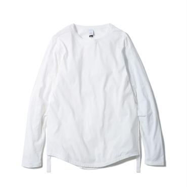 "NEW ROUND TAIL CLAS""SICK"" LS Tee(WHITE)"