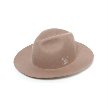 WIDE BRIM HAT(CAMEL)