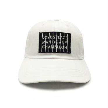 """LOVE & PEACE"" 6PANEL CAP (WHITE)"