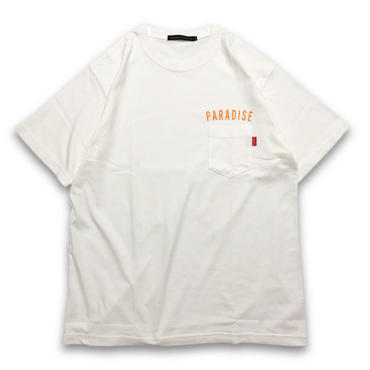 """VINTAGE WASHED"" POCKET T-SHIRTS (OFF WHITE)"