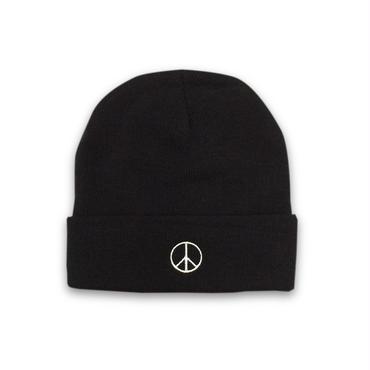 PEACE BEANIE (BLACK)