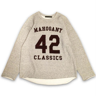 """42 CLASSICS"" CREW SWEAT (GRAY / BURGUNDY)"