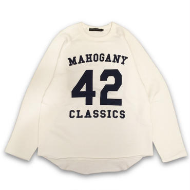 """42 CLASSICS"" CREW SWEAT (VANILLA / NAVY)"