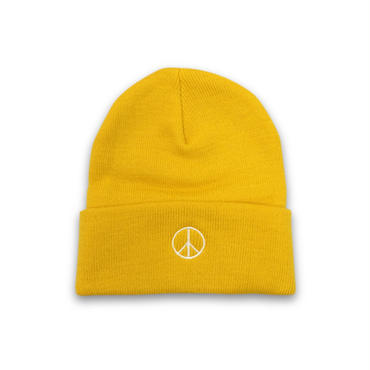 PEACE BEANIE (YELLOW)