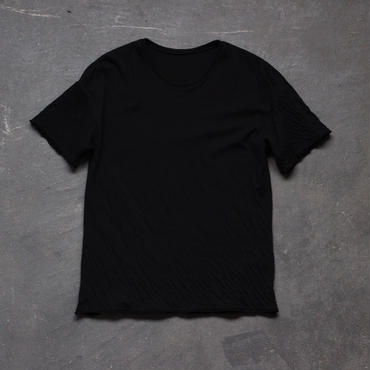 dual-layered fabric tshirt/black
