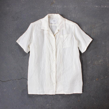 open necked linen shirt/OF