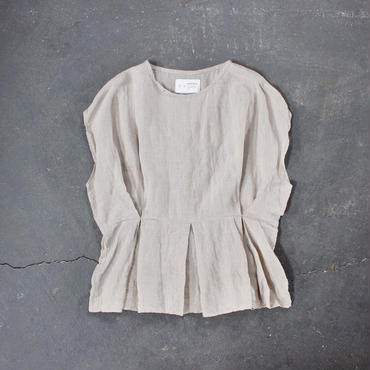 cape sleeve linen tops /BE