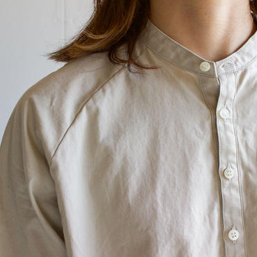weather cloth shirt/beige