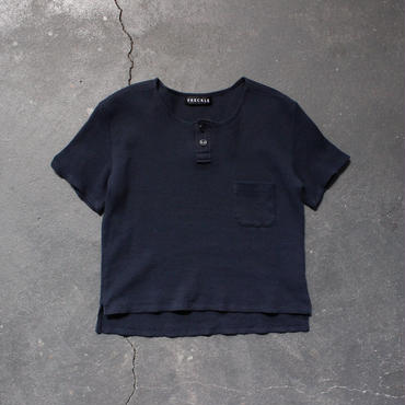 waffle henley neck cut and sewn/NV