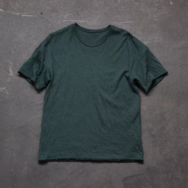 dual-layered fabric tshirt/green