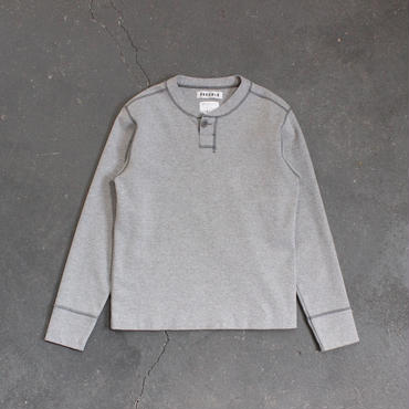 miranoribu cotton henley neck/GY