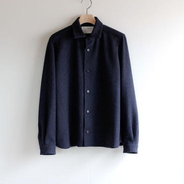 powderyarn eamirudo wool shirt/navy