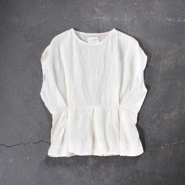 cape sleeve linen tops /OF