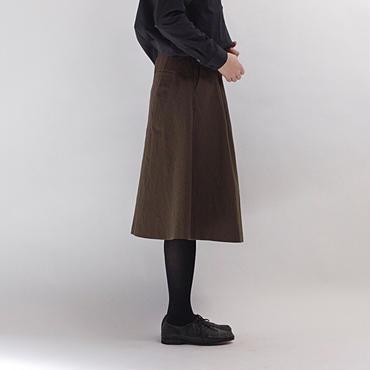 ウールコットンタンブラー加工スカート