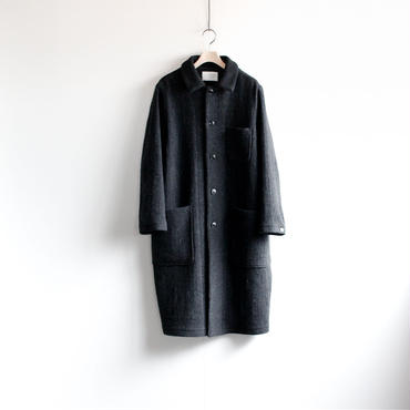 Lomond stand fall collar coat/charcoal gray