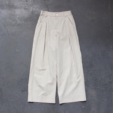 cotton linen weather cloth wide pants/BE