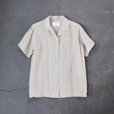 open necked linen shirt/BE